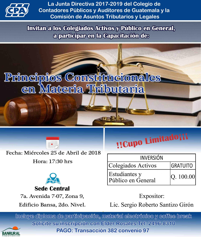 «Principios Constitucionales en Materia Tributaria» Sede Central
