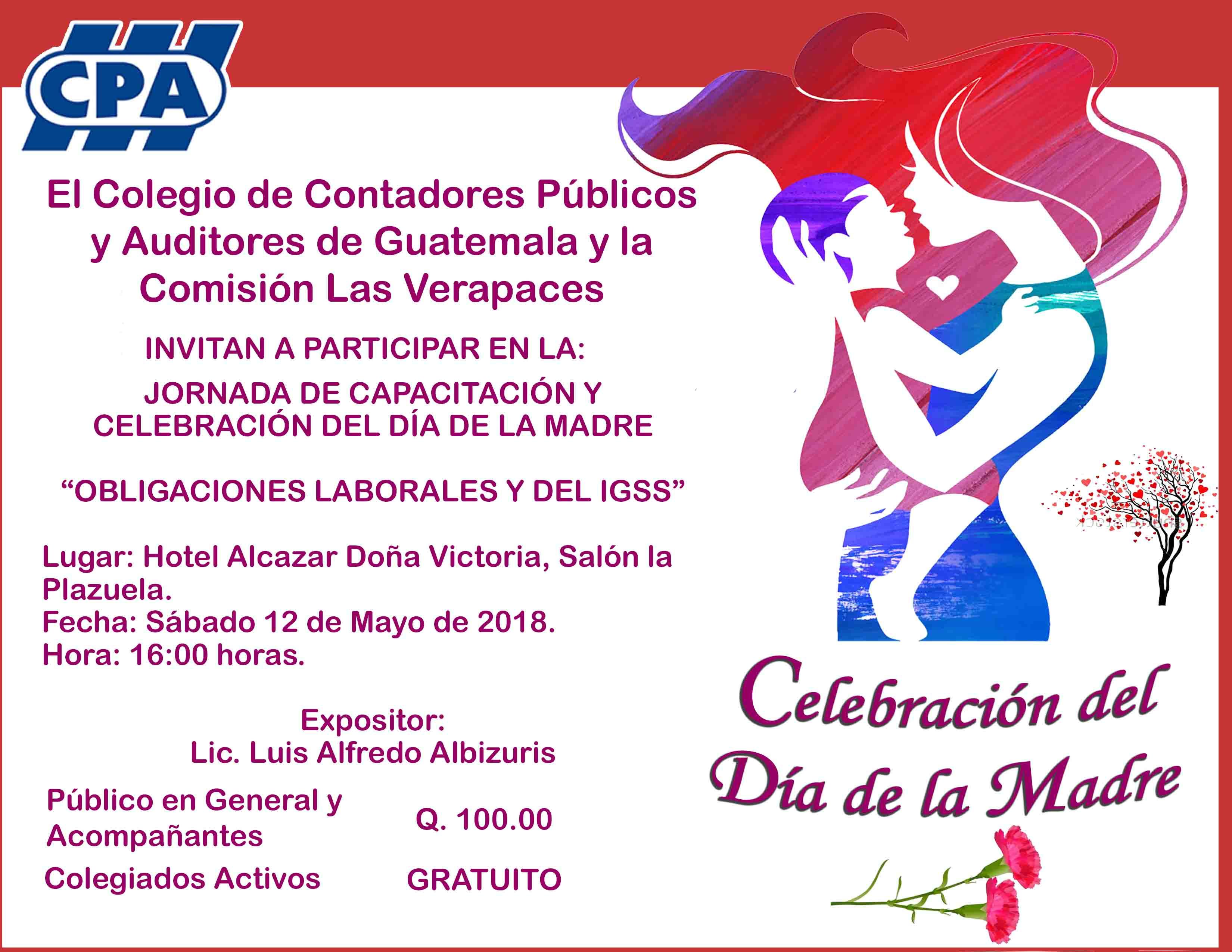 """""""Obligaciones Laborales y del IGSS"""" y Celebración del día de la Madre Las Verapaces"""