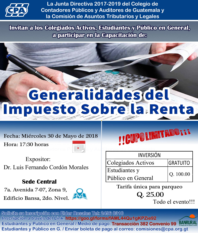 Generalidades del Impuesto Sobre la Renta»