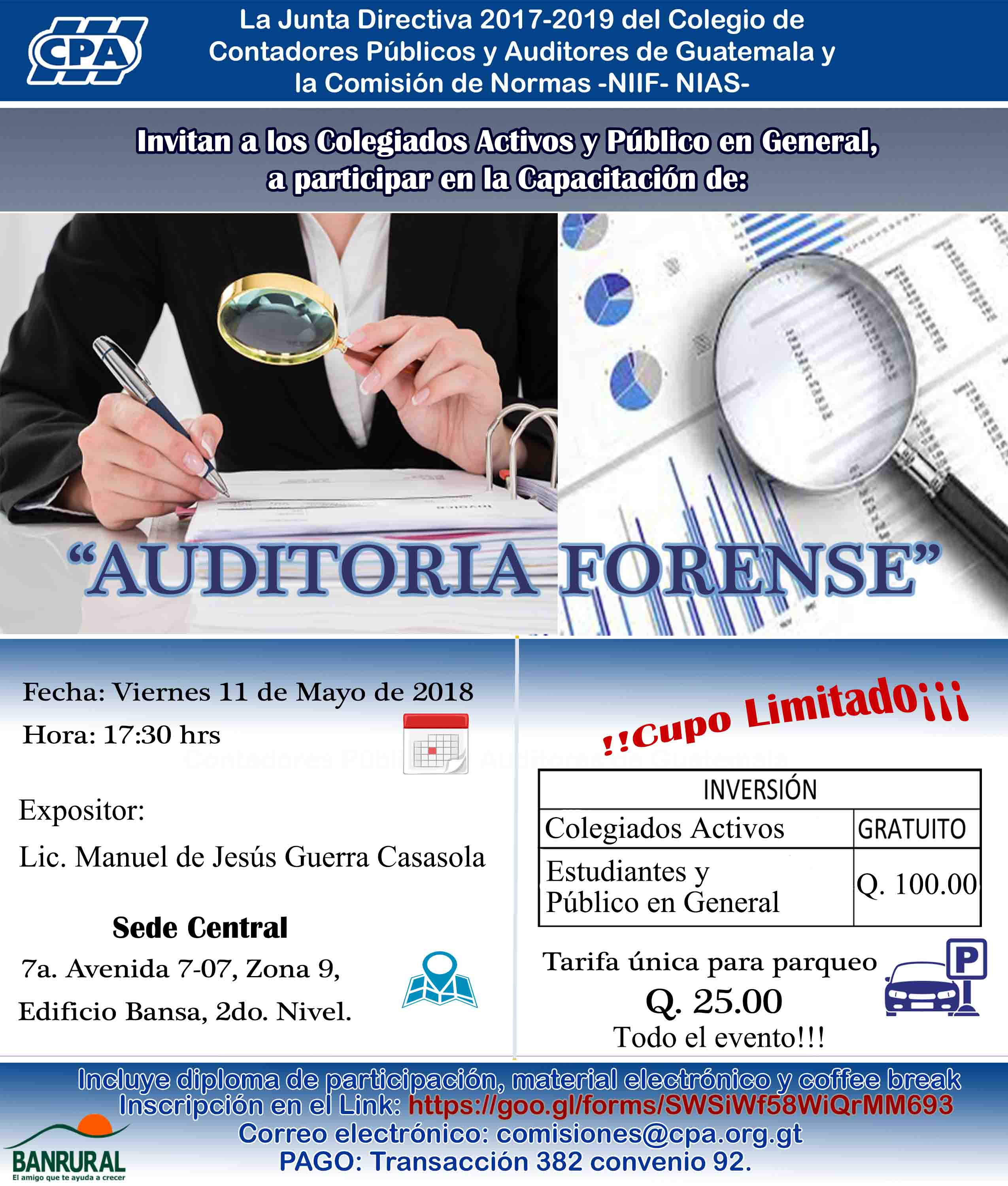 «Auditoria Forense» Sede Central