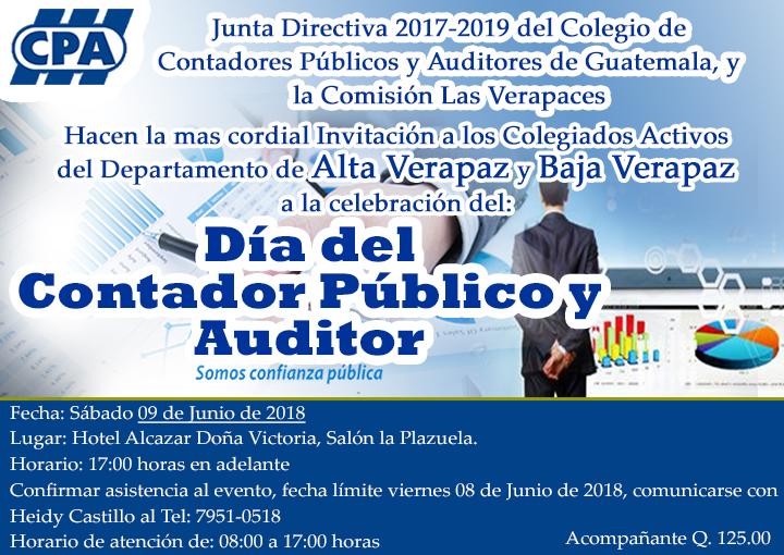 """Celebración """"Día del Contador Público y Auditor"""" Las Verapaces"""