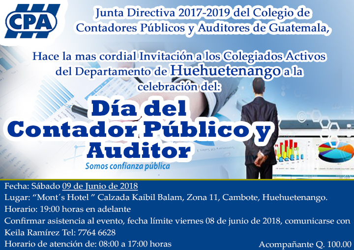 """Celebración del """"Día del Contador Público y Auditor"""" Huehuetenango"""