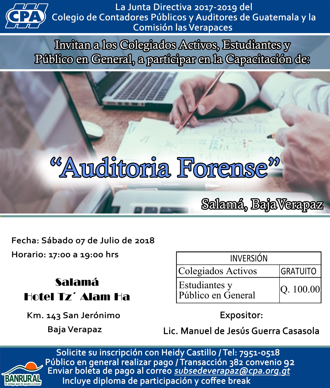 Auditoria Forense, Salama