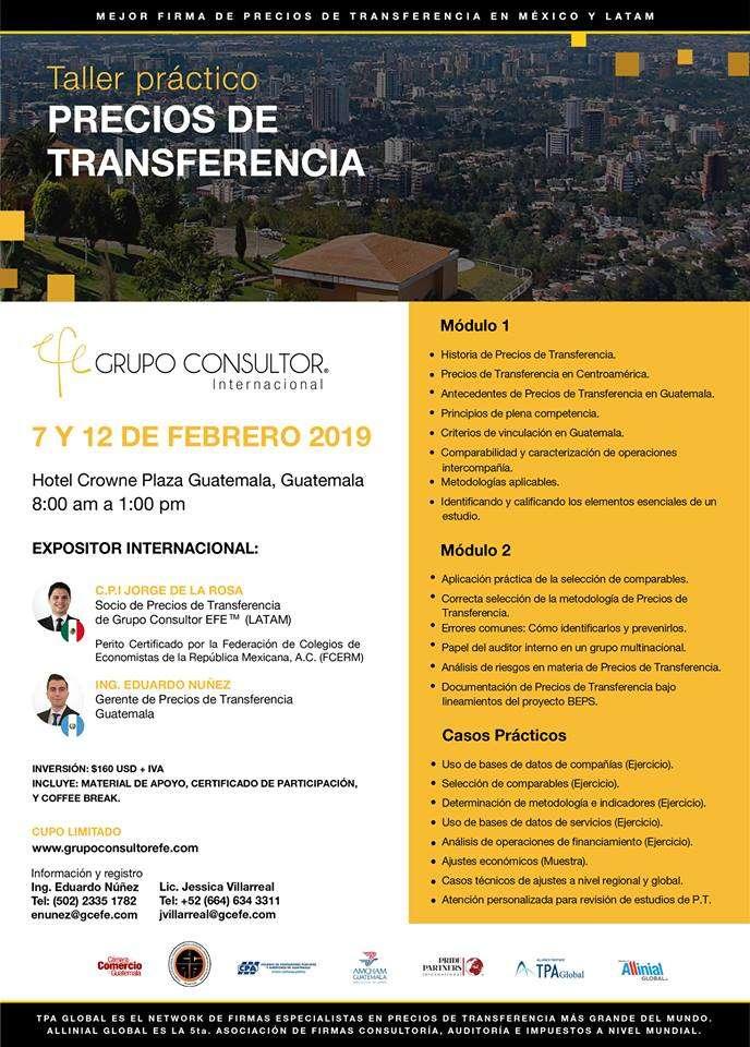 Taller práctico PRECIOS DE TRANSFERENCIA