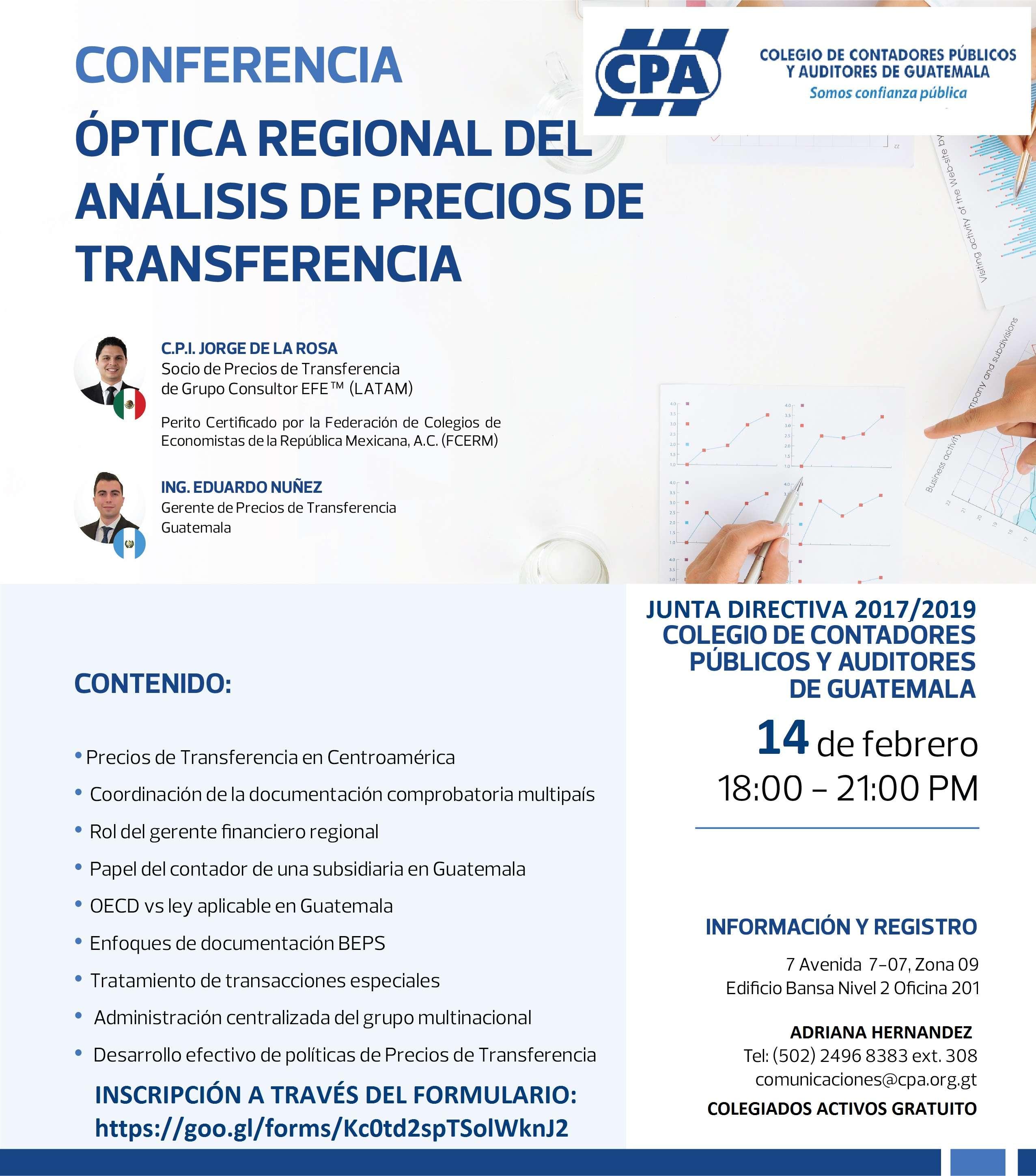 CONFERENCIA ÓPTICA REGIONAL DEL ANÁLISIS DE PRECIOS DE TRANSFERENCIA