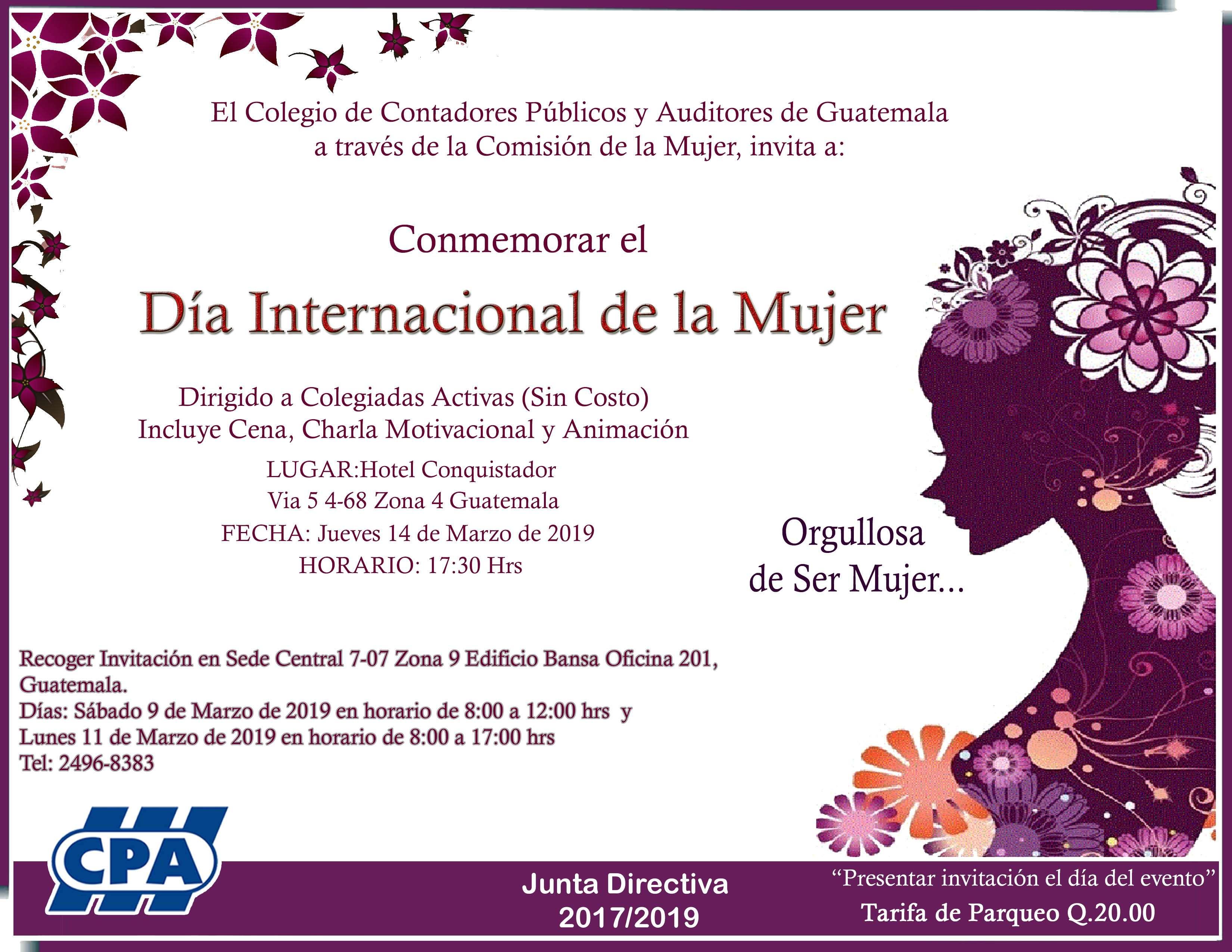 Conmemoración día de la Mujer