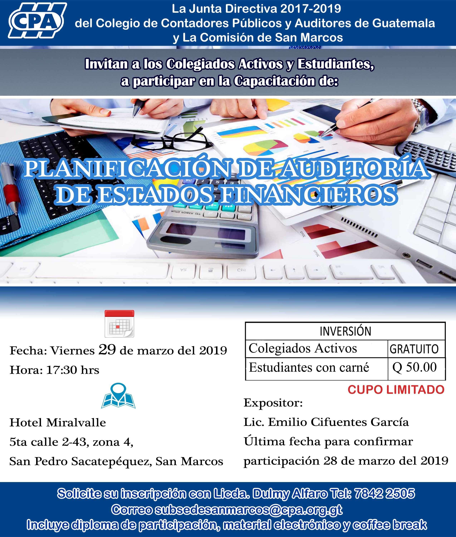 Capacitación: Planificación de Auditoría de Estados Financieros