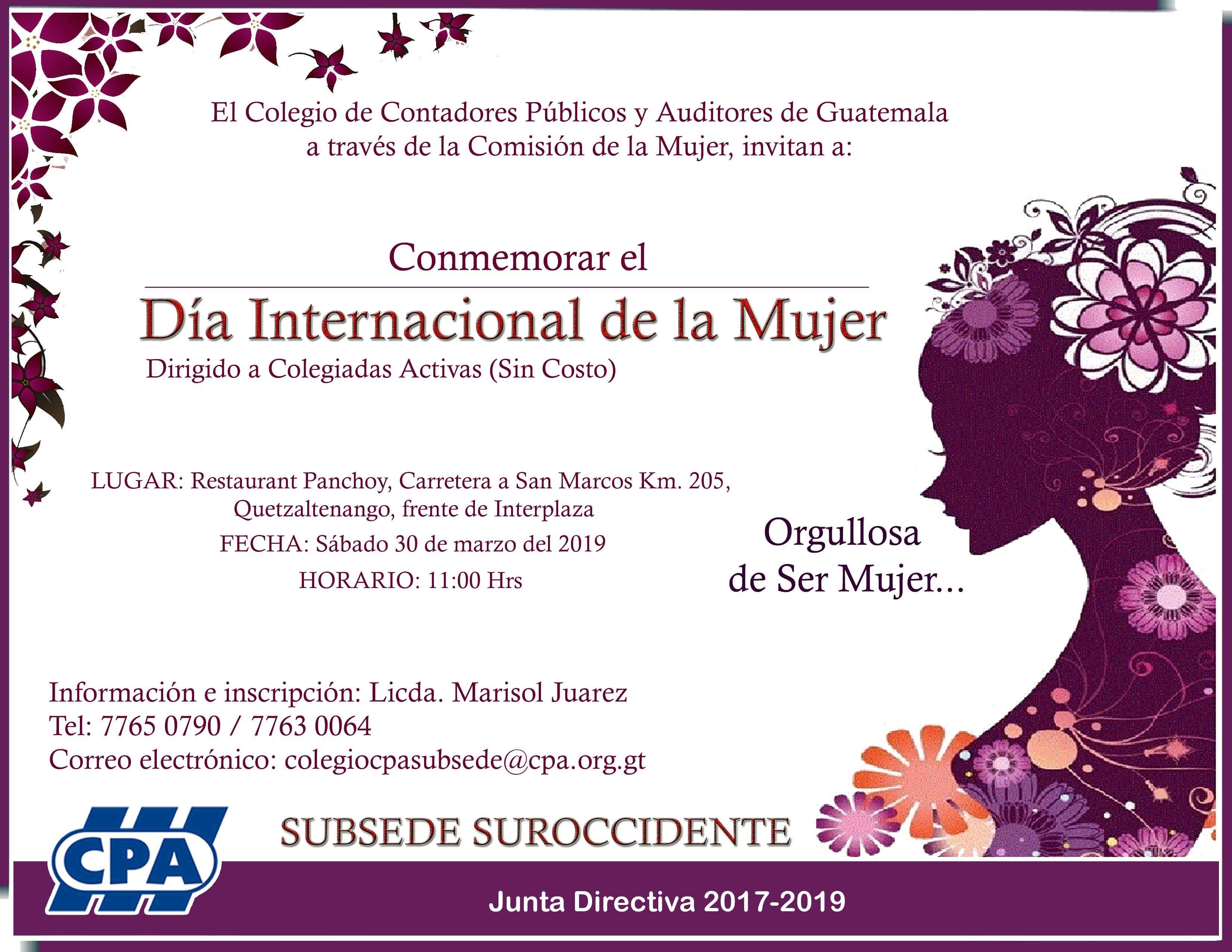 Día Internacional de la Mujer Subsede Quetzaltenango