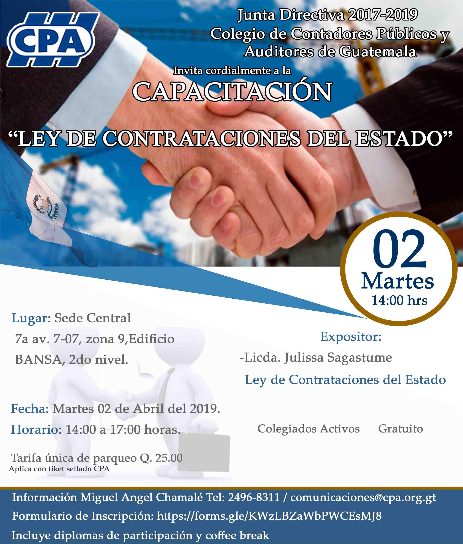 Capacitación: Ley de Contrataciones del Estado / Sede Central