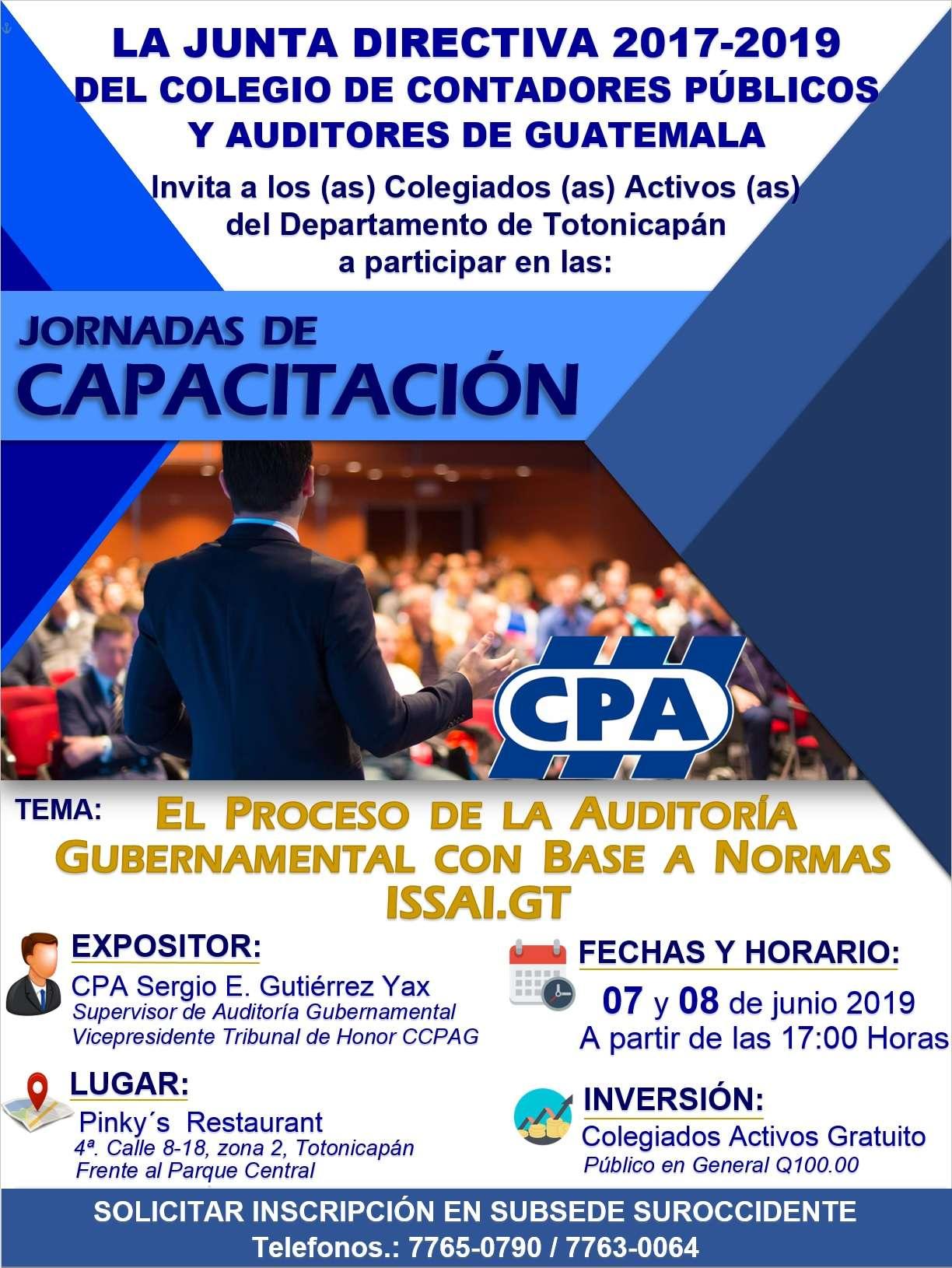 Jornadas de Capacitación: Departamento de Totonicapán