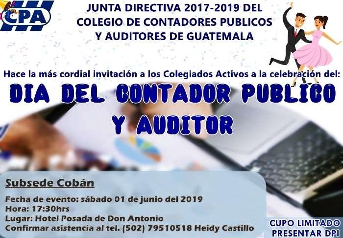 Día del Contador Público y Auditor/ Subsede Las Verapaces