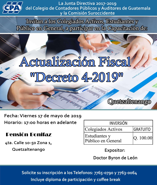 Actualización Fiscal «Decreto 4-2019»