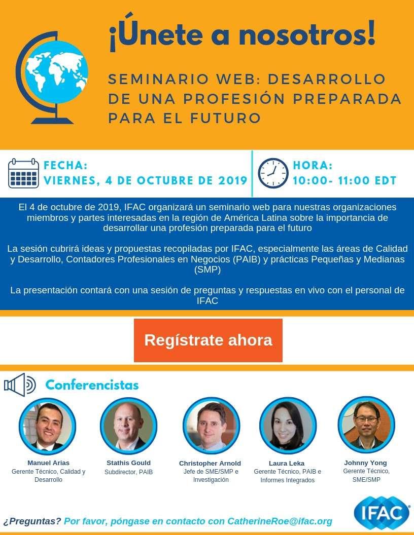 IFAC Seminario Web: DESARROLLO DE UNA PROFESIÓN PREPARADA PARA EL FUTURO
