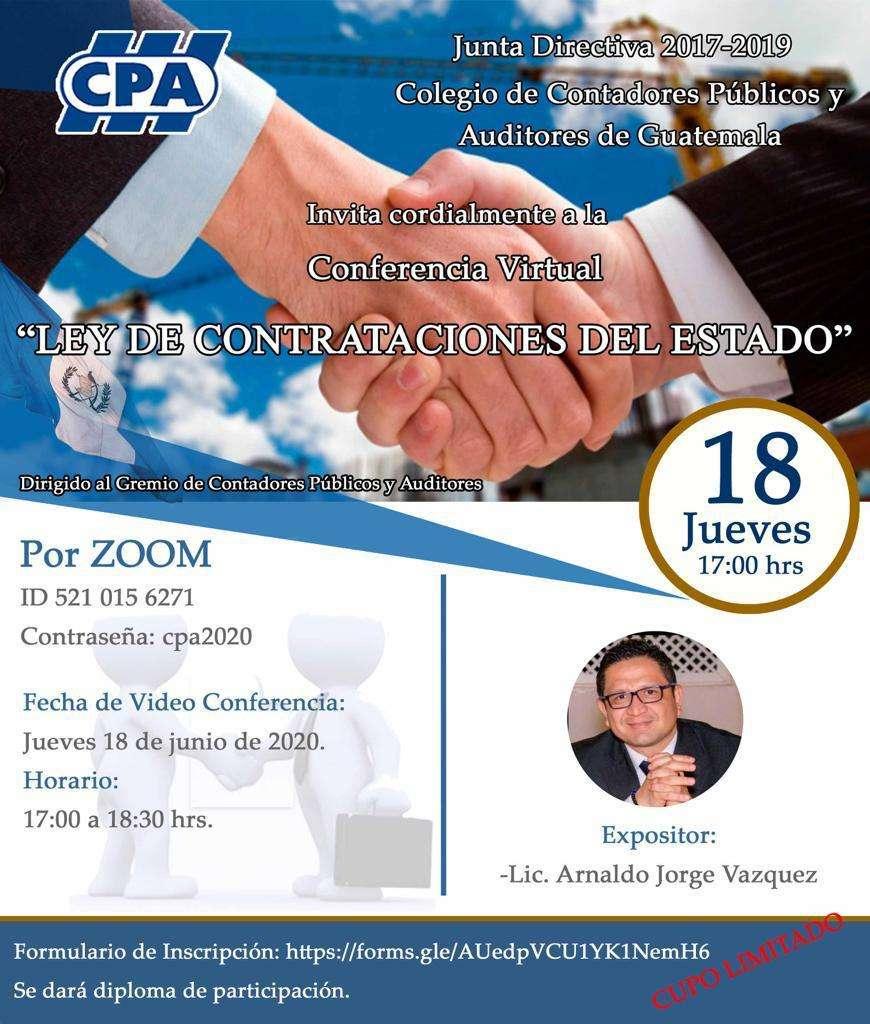 LEY DE CONTRATACIONES DEL ESTADO JUEVES 18 JUN 20