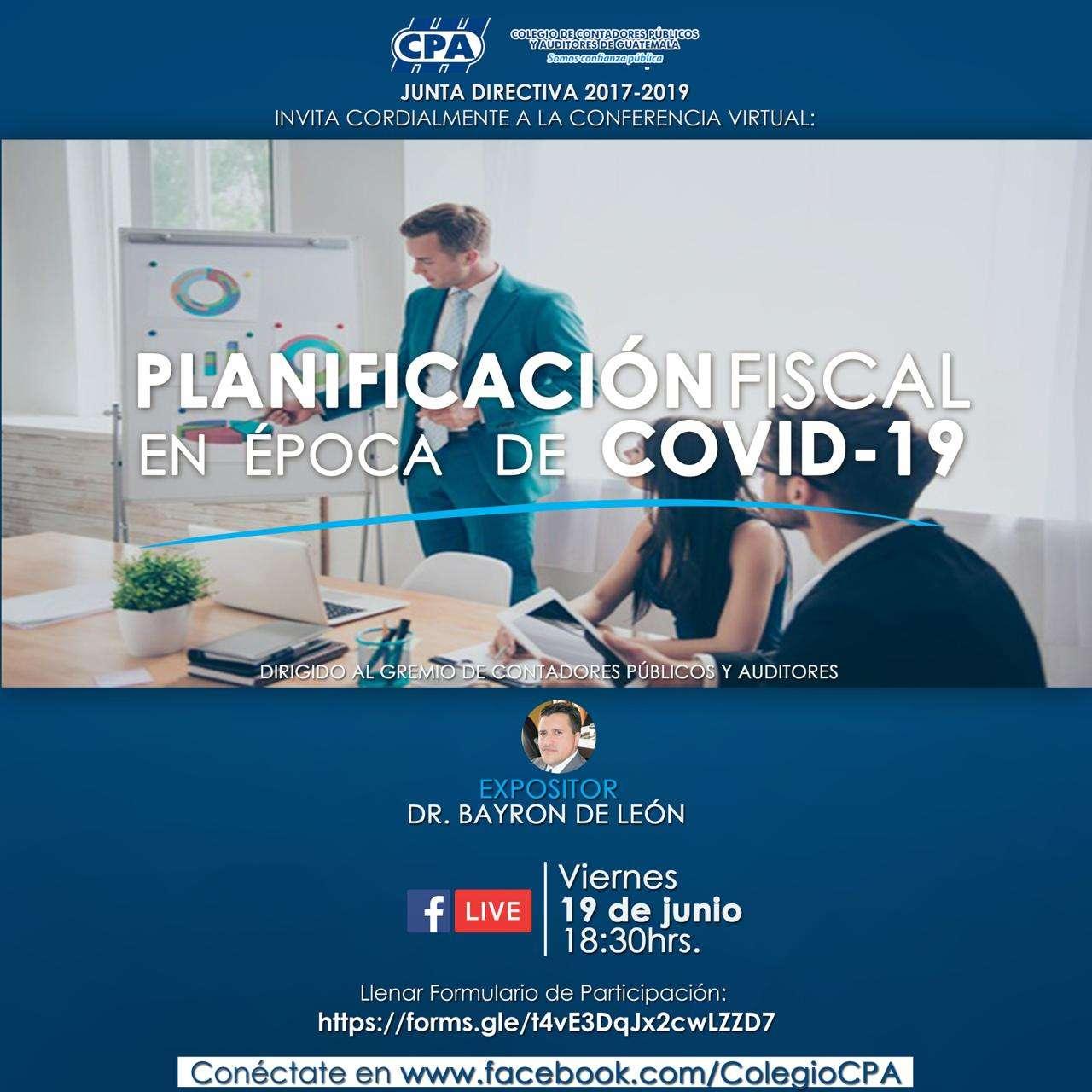 PLANIFICACIÓN FISCAL EN ÉPOCA DE COVID-19 VIERNES 19 DE JUN 20