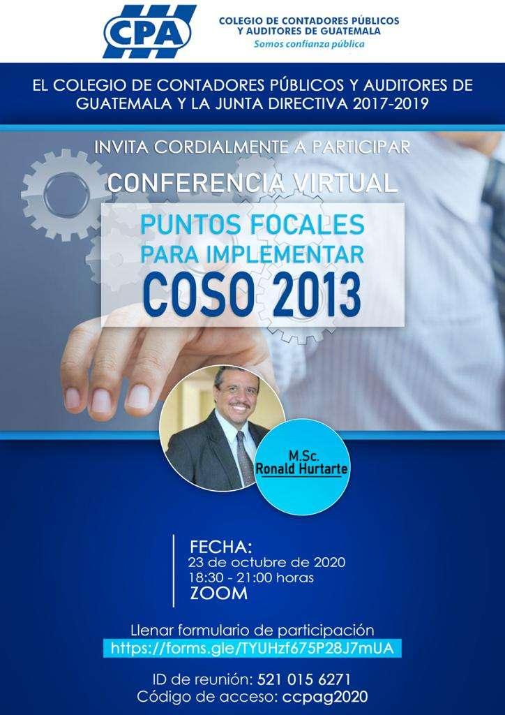PUNTOS FOCALES PAR IMPLEMENTAR COSO 2013 – 23 OCT 20