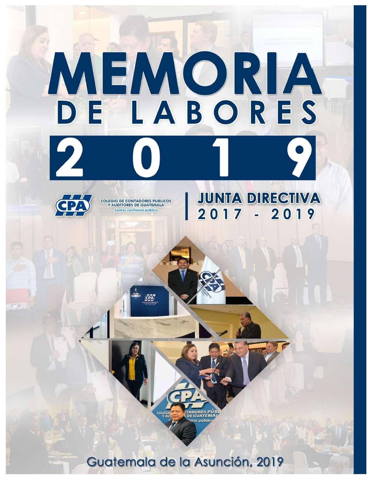 MEMORIA DE LABORES 2019