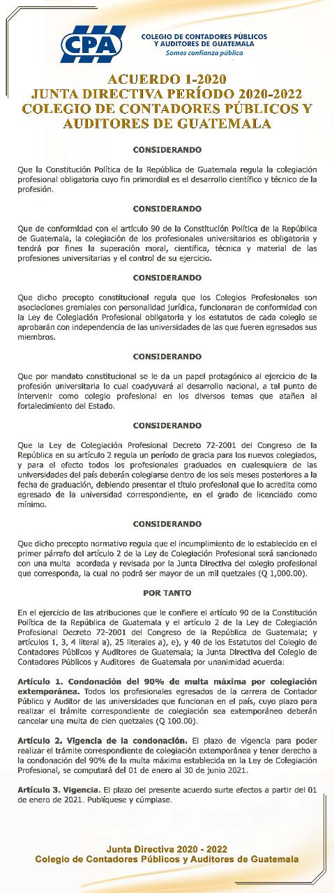 Acuerdo 1-2020