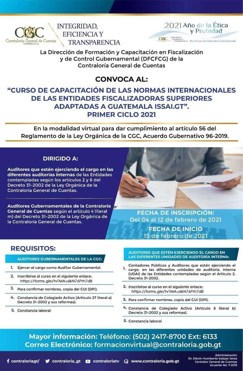 CURSO DE CAPACITACIÓN ISSAI.GT | 16 FEB 2021