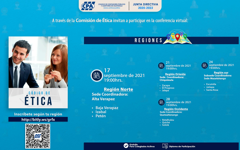 Conferencia Virtual «Código de Ética» Región Norte   17 SEP 2021